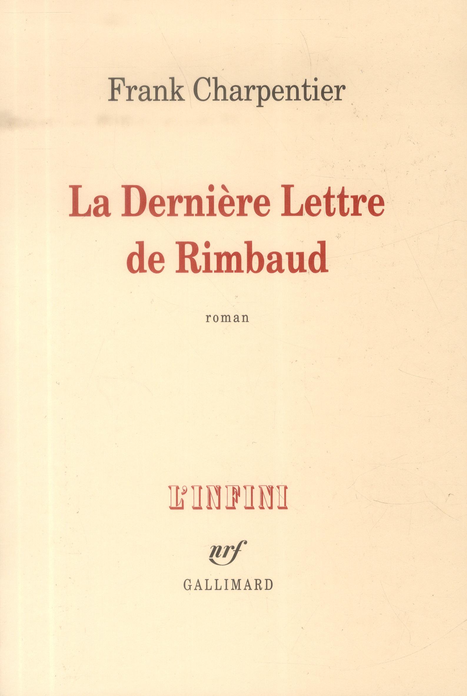 La dernière lettre de Rimbaud