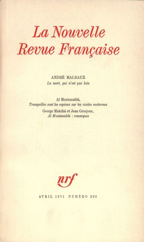 La Nouvelle Revue Française N° 220