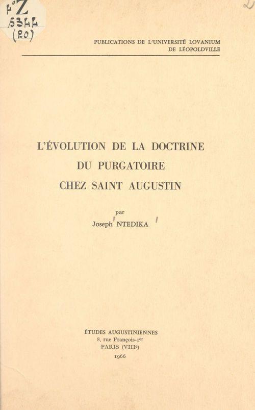 L'évolution de la doctrine du purgatoire chez Saint Augustin