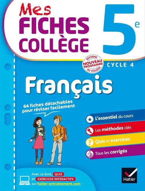 Mes Fiches College Francais 5e Malika Behlouli Ines Corbet Dorothee Jost Hatier Ebook Pdf Le Hall Du Livre Nancy
