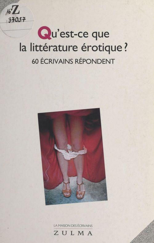 Qu est-ce que la litterature erotique