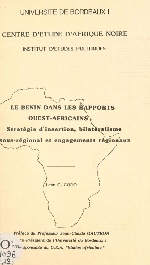 Le Bénin dans les rapports ouest-africains