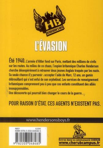 Henderson's boys t.1 ; l'évasion