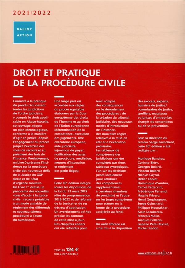 Droit et pratique de la procédure civile ; droit interne et européen (édition 2021/2022)