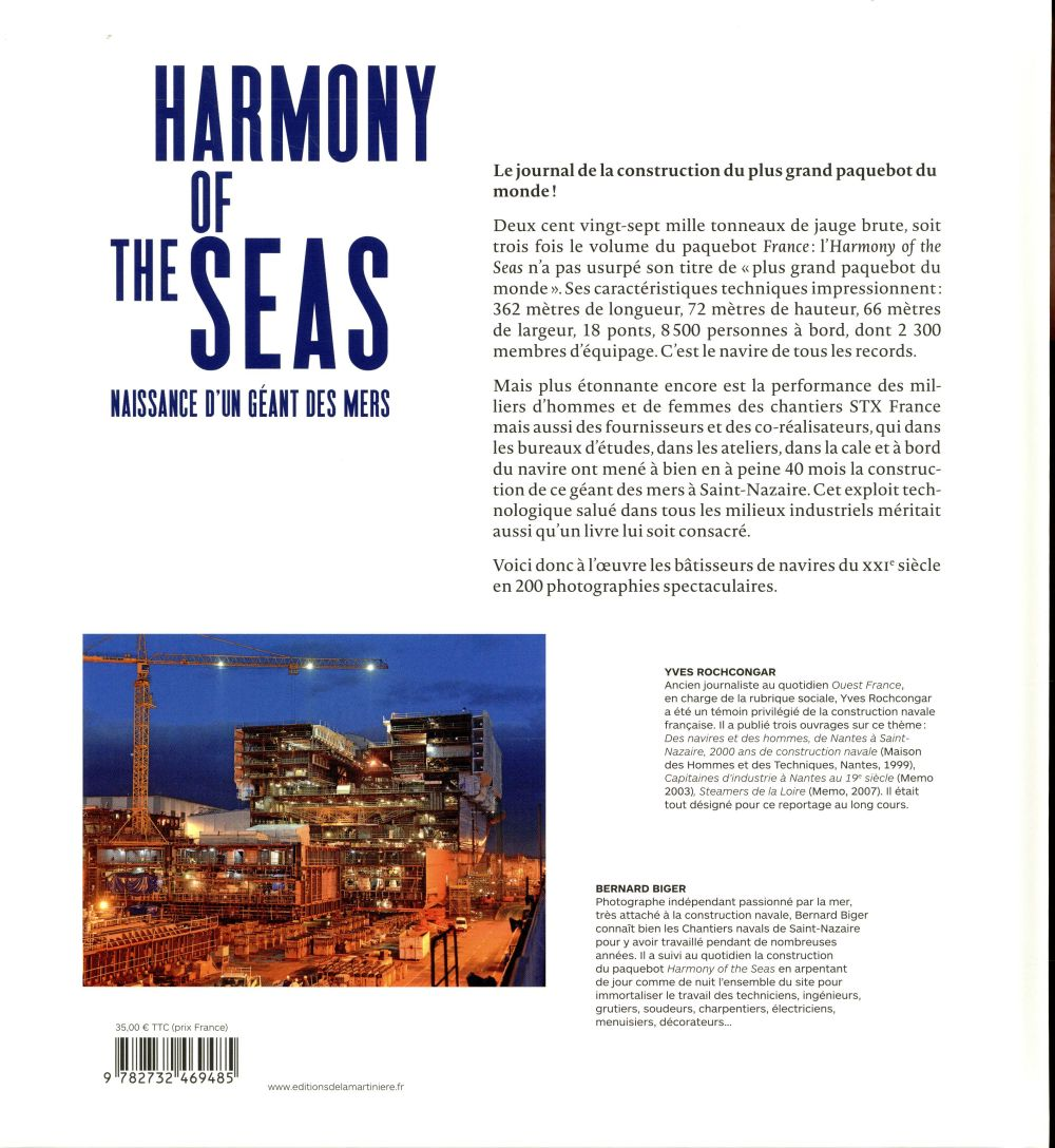Harmony of the seas ; naissance d'un geant des mers