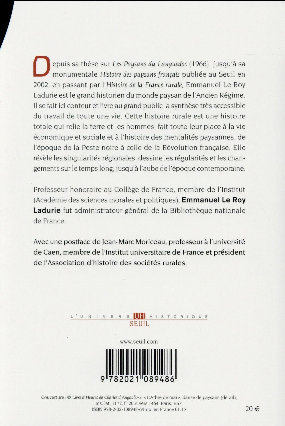 Les paysans français d'Ancien Régime ; du XIVe au XVIIIe siècle