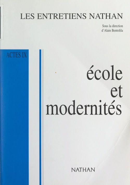 Vente EBooks : École et modernités  - Marek Halter