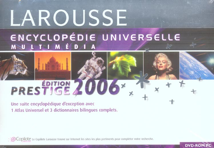 Encyclopedie universelle multimedia larousse prestige 2006