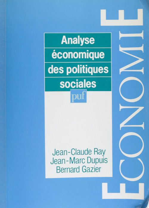 Analyse economique des politiques sociales