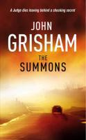 Vente Livre Numérique : The Summons  - John Grisham