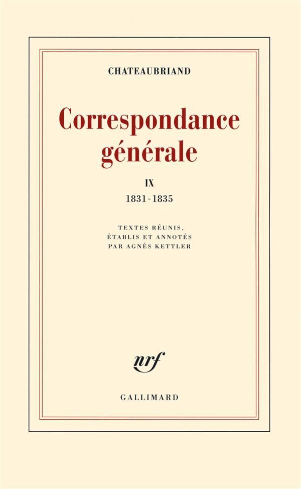 Correspondance générale t.9