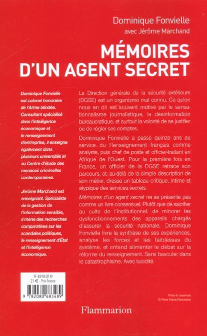 Memoires d'un agent secret
