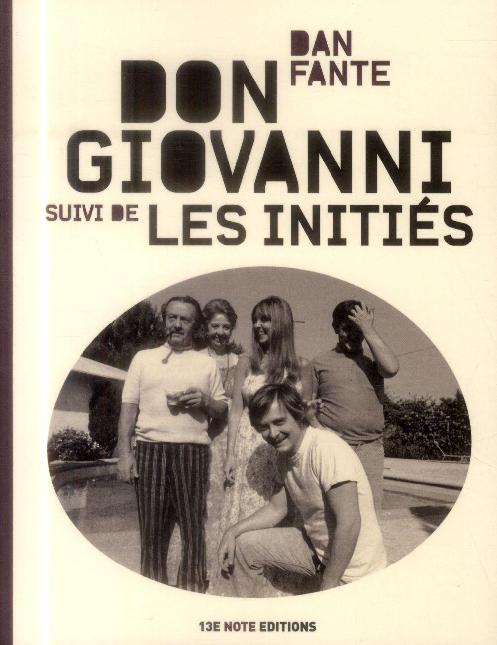 Don Giovanni ; les initiés