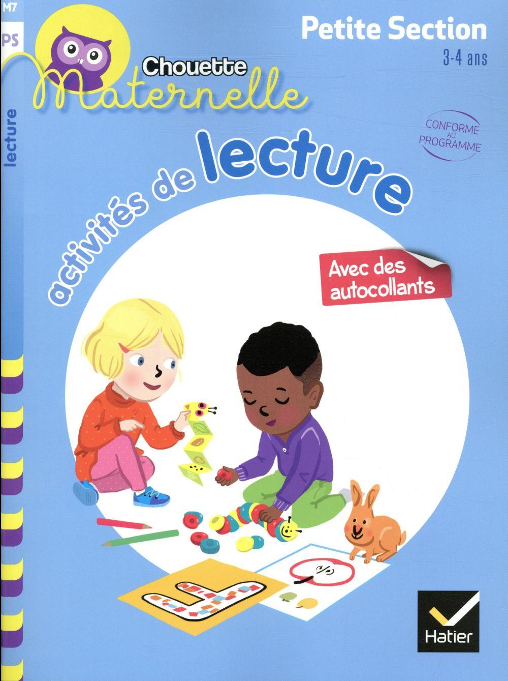 Chouette maternelle ; activités de lecture ; petite section