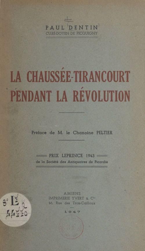 La Chaussée-Tirancourt pendant la Révolution