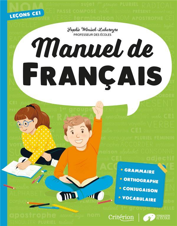 Manuel de français ; CE1 ; leçons