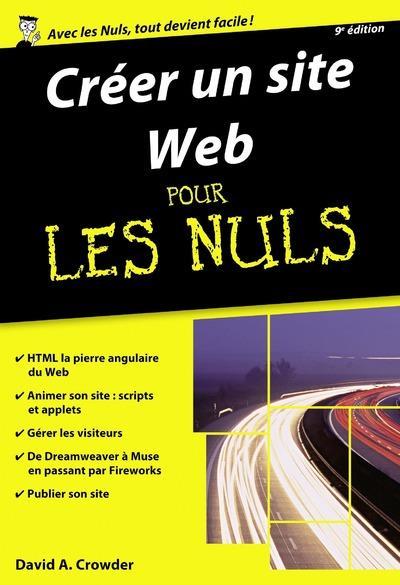 Crowder David A. - CREER UN SITE WEB POCHE POUR LES NULS 9ED