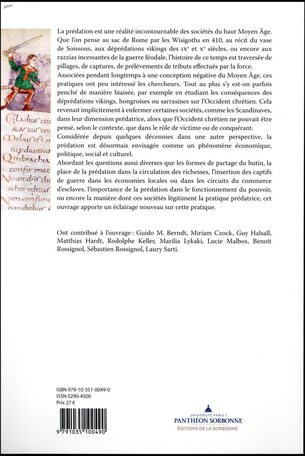 Pillages, tributs, captifs ; prédation et sociétés de l'Antiquité tardive au haut Moyen Age