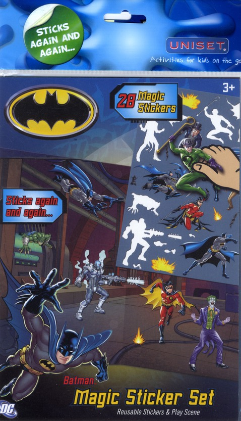 Batman ; 28 magic stickers