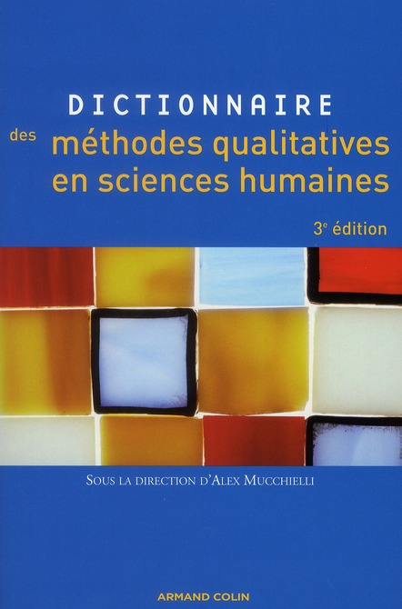 Dictionnaire Des Methodes Qualitatives En Sciences Humaines