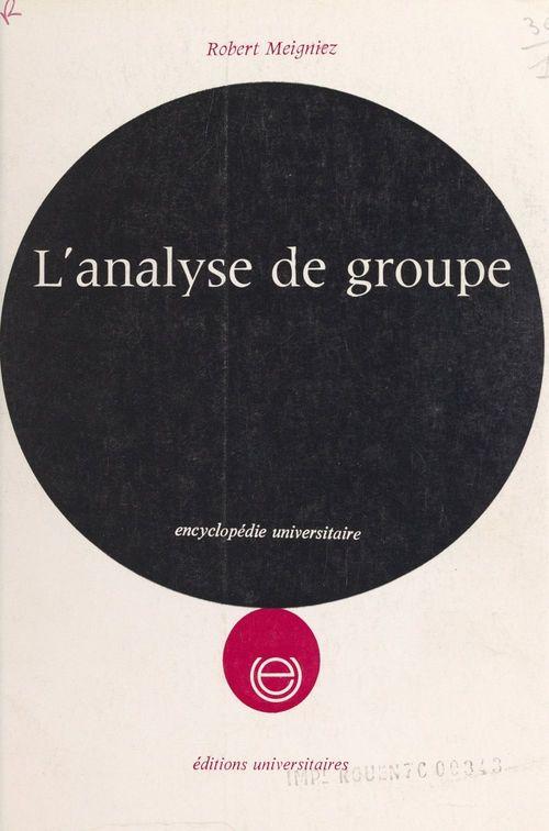 L'analyse de groupe