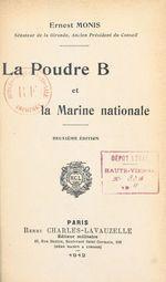 La poudre B et la marine nationale
