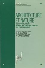 Vente Livre Numérique : Architecture et nature  - Jean-Baptiste Martin - François LAPLANTINE