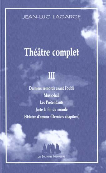 THEATRE COMPLET III