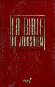 Bible Jerusalem Poche Poche Bordeaux Sous Etui