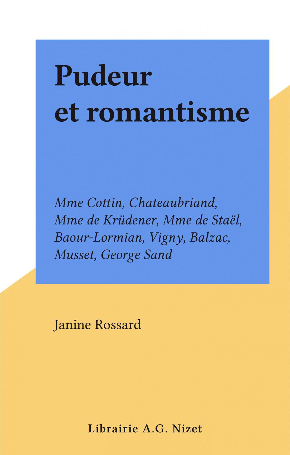 Pudeur et romantisme