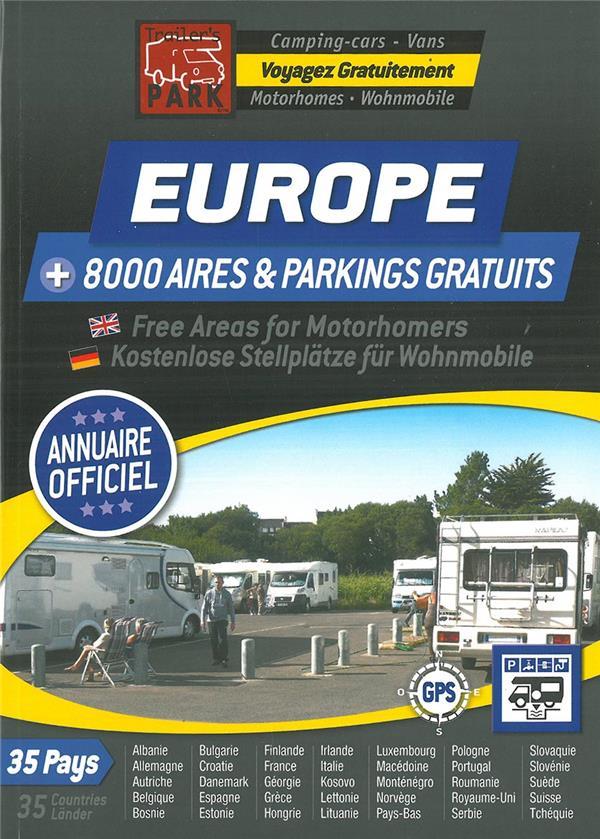 trailer's park ; Europe + 8000 aires & parkings gratuits