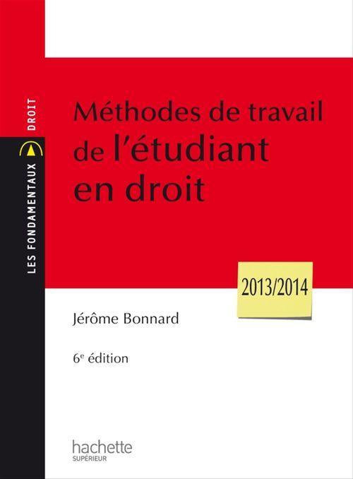 Méthodes de travail de l'étudiant en droit (6e édition)