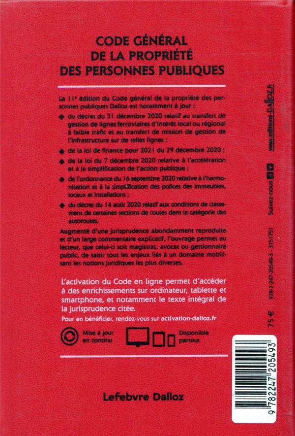 Code général de la propriété des personnes publiques, annoté et commenté (édition 2021)