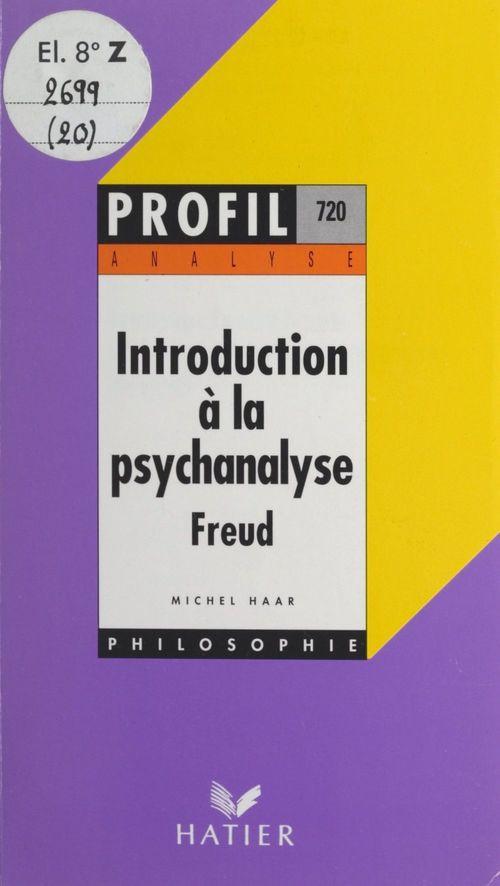 Introduction à la psychanalyse, Freud