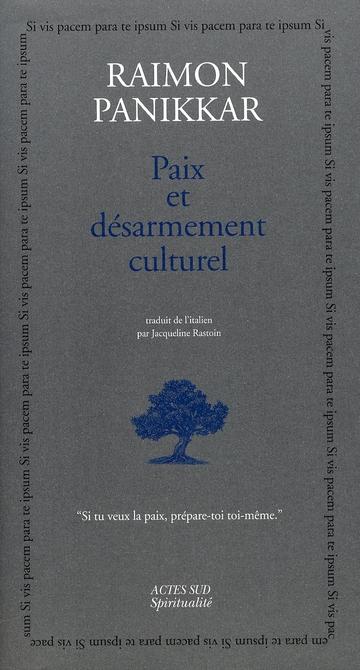 Paix Et Desarmement Culturel