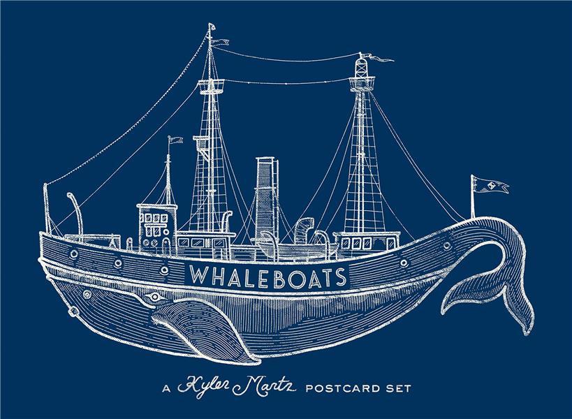 Whaleboats: a kyler martz postcard set