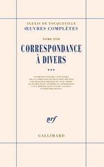 Vente EBooks : Correspondance à divers (Tome 3)  - Alexis de TOCQUEVILLE