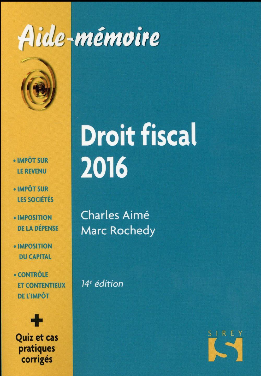 Droit fiscal (édition 2016)