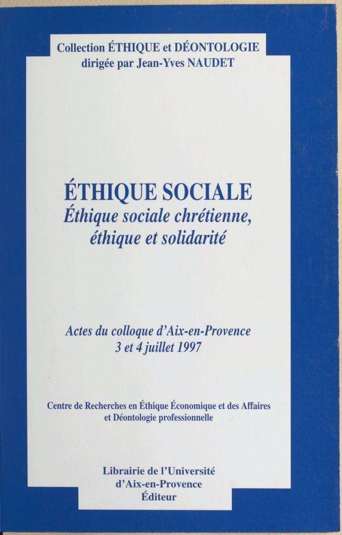 Ethique sociale