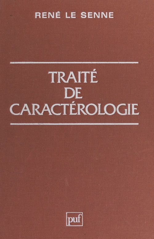Traité de caractérologie