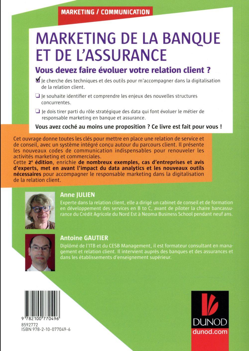 Marketing de la banque et de l'assurance, 2e ed. - le digital au coeur de la relation client