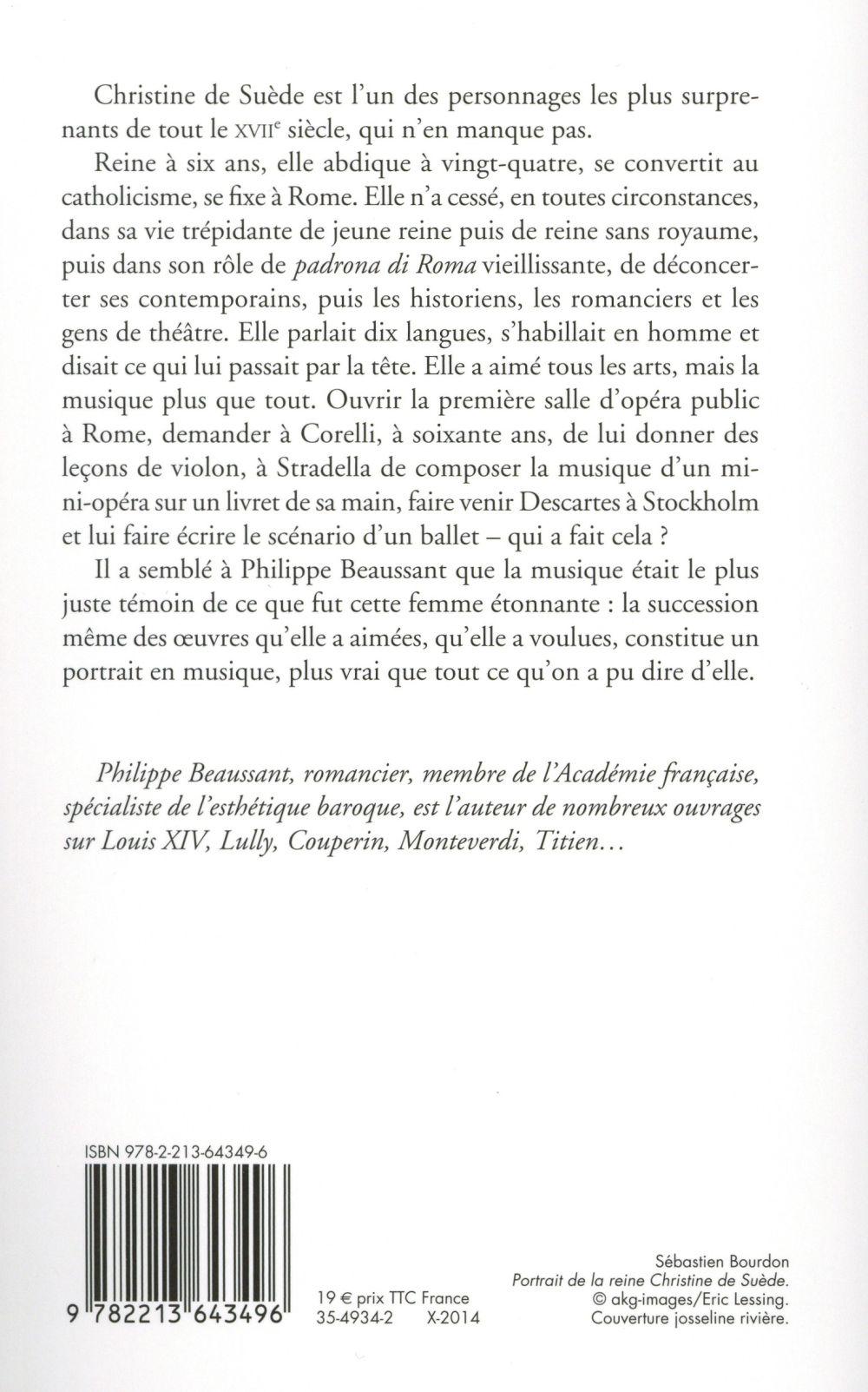 Christine De Suede Et La Musique Philippe Beaussant Fayard Grand Format Le Hall Du Livre Nancy