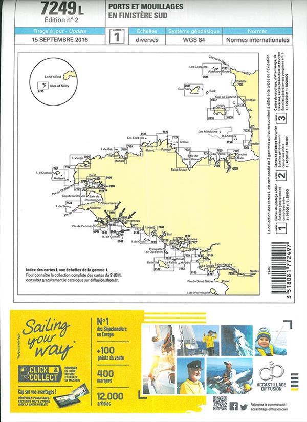 ports et mouillages en Finistère Sud ; 7249L, diverses