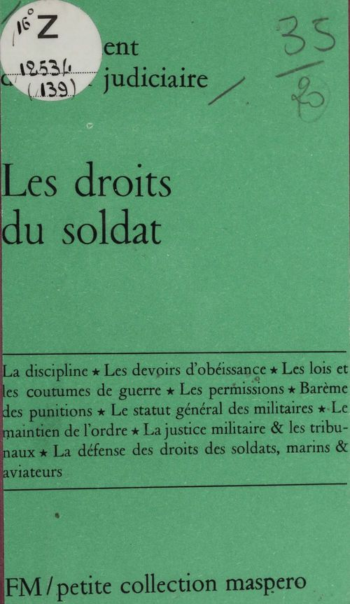 Les droits du soldat