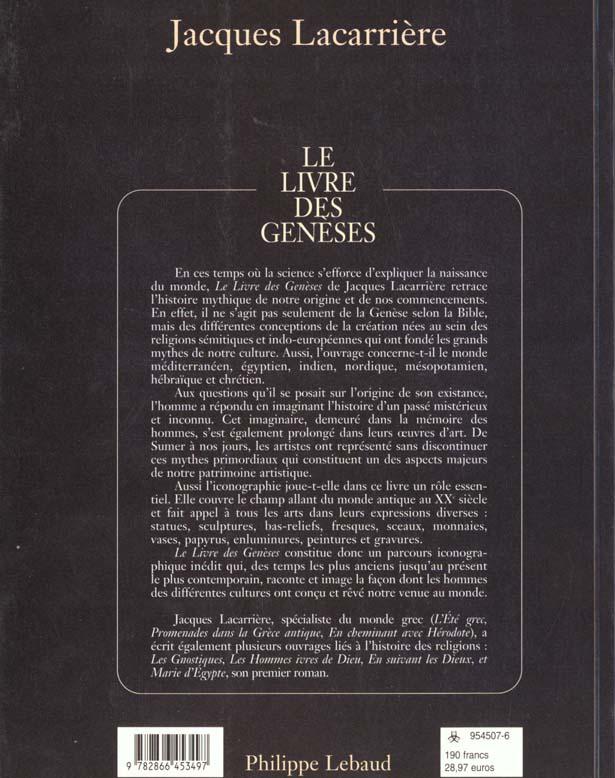 Le livre des geneses