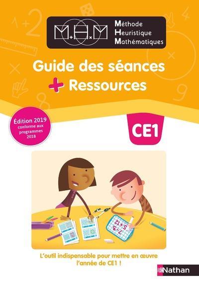 Méthode heuristique de mathématiques ; CE1 ; guide des séances + ressources (édition 2019)