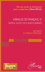 Vente EBooks : Annales de Français 9e