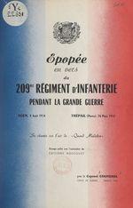 Épopée en vers du 209e Régiment d'infanterie pendant la Grande guerre  - Andre Coufignal