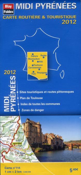 Carte routière & touristique N.114 ; Midi Pyrénées (édition 2012)