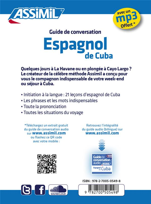guides de conversation ; espagnol de Cuba